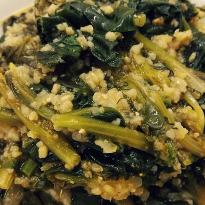 Σπανάκι με πλιγούρι - συνταγή