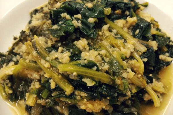 Σπανάκι με πλιγούρι