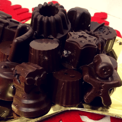 Χριστουγεννιάτικα σοκολατάκια υγείας - συνταγή