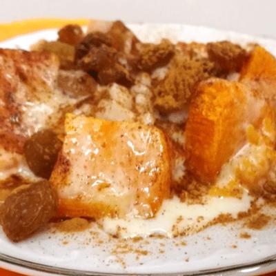 Ρυζόγαλο με κόκκινη κολοκύθα - συνταγή