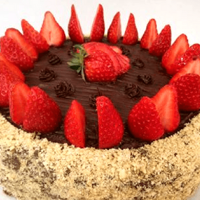 Τούρτα σοκολάτα με φράουλες - χωρίς ελαιόλαδο