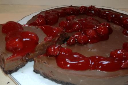 Τάρτα σοκολάτα με φράουλα