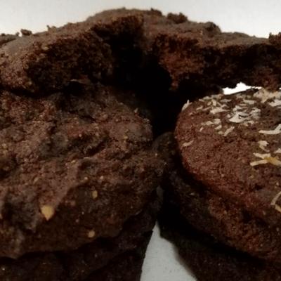 Χαρουπο-αμυγδαλο-καρυδο-μπανανό-cookies